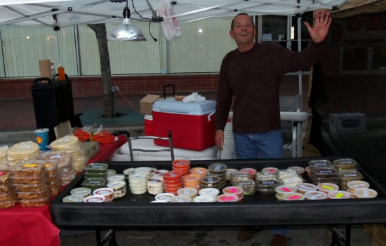 Kellys Hummus Booth at Redlands Market Night