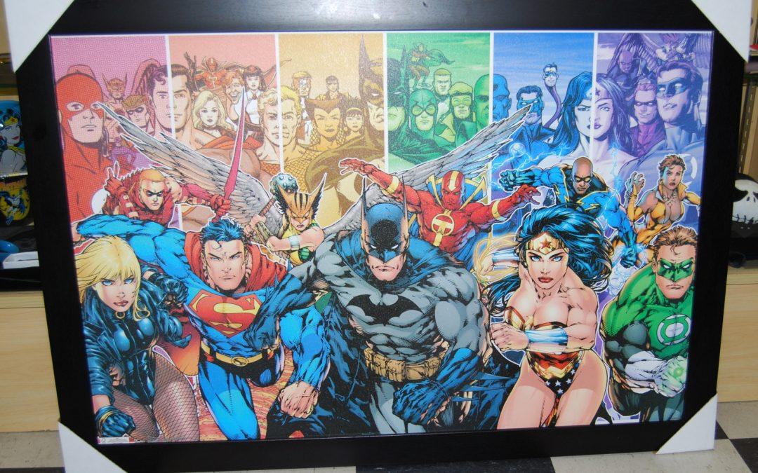 We Love Superheroes! DC Universe Justice League Picture.