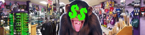 Crazy Cash Monkey in our Store