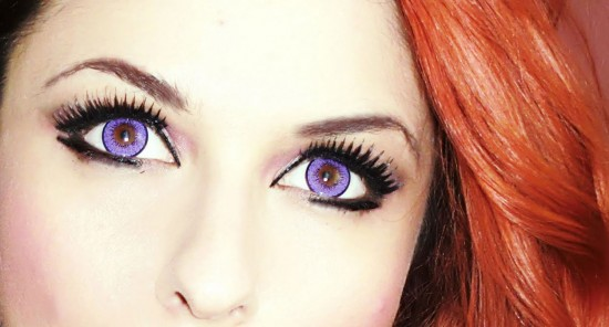 Violet Colored Contact Lenses