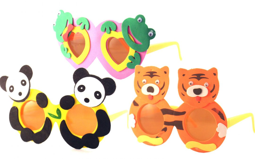 Kid's Animal Frog, Panda, and Tiger Sunglasses