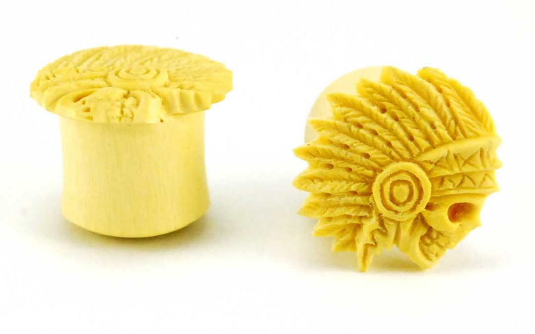 Sterling & Company Offers Hand Carved Wood Ear Plug Sets