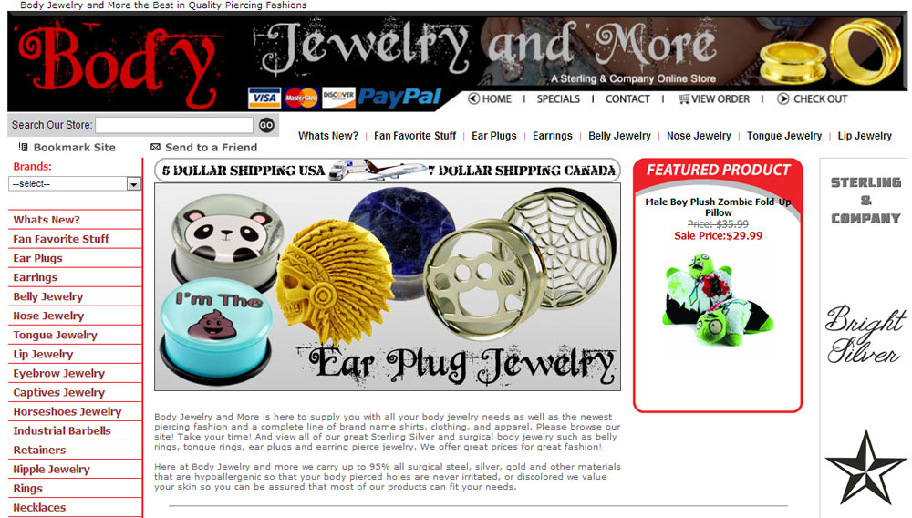 The New Body Jewelry and More